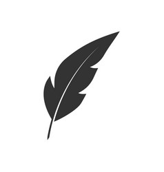 feather pen black icon vector image