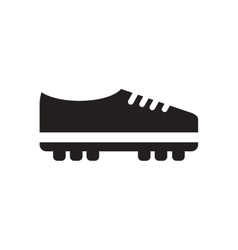 Flat icon in black and white soccer shoes vector