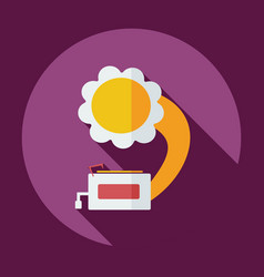 Flat modern design with shadow icon gramophone vector