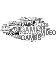 Games word cloud concept vector