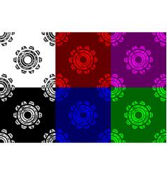 gear wheel seamless pattern vector image
