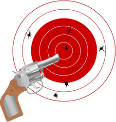 gun and the target vector image