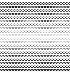 Halftone seamless pattern wavy lines chains vector