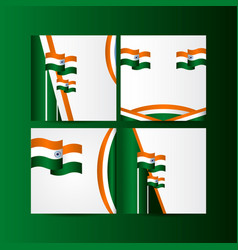 Happy india independence day celebration template vector