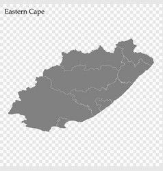 high quality map is a province south africa vector image