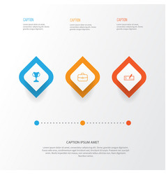 hr icons set collection of tournament payment vector image vector image