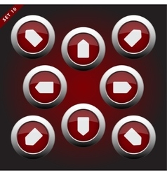 Icon Button Set with Arrows vector image