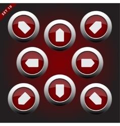 Icon Button Set with Arrows vector