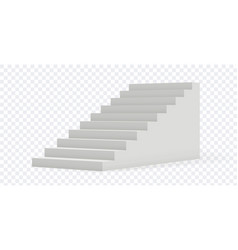 Isolated stair 3d realistic staircase vector