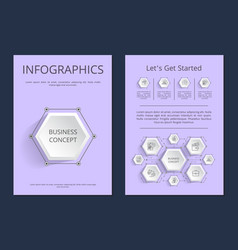 Let s get started infographics vector