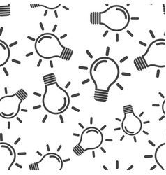 light bulb icon seamless pattern background icon vector image