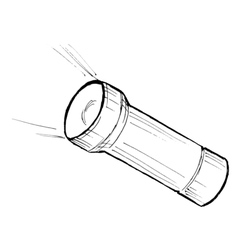 metallic flashlight vector image