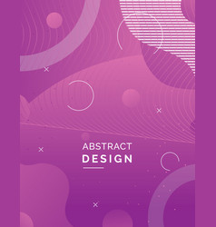 minimal cover design vector image