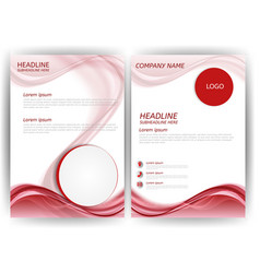 modern business flyer template with abstract vector image