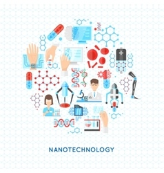 Nanotechnology Round Design vector image