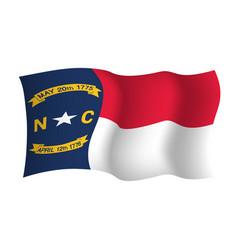North carolina waving flag united states of vector
