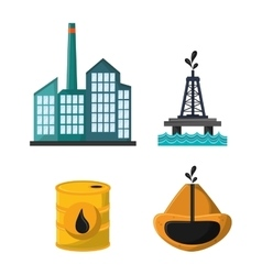 Oil industry production petroleum icon vector