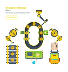 Production Line Top View vector