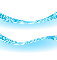realistic picture of blue water surface with vector image