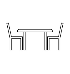 Restauran table fast food vector