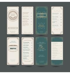 Set Of Vintage Restaurant Menu Design Template vector