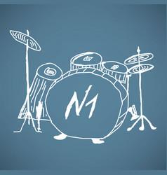Sketches drum kit vector