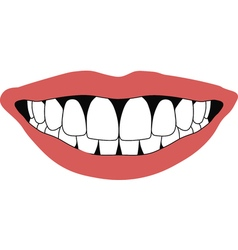 Smile front teeth vector
