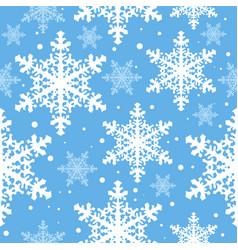 Snowfall seamless vector