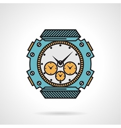 Sport watch flat style icon vector