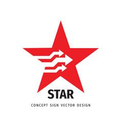 Star logo design success concept sign leadership vector