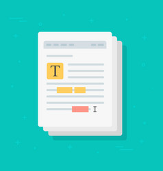 text file or document content editing icon vector image