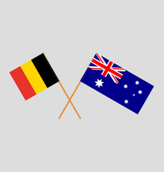 the australian and belgian flags vector image