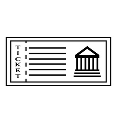 Ticket to museum icon outline style vector