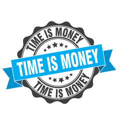 time is money stamp sign seal vector image
