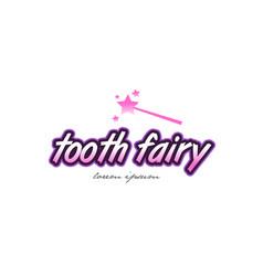 tooth fairy word text logo icon design concept vector image