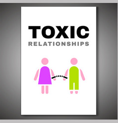 Toxic relationships poster-08 vector