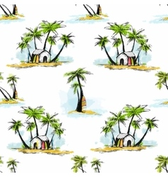 Tropical palm pattern vector image
