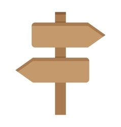 Two Wooden Arrow vector image