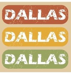 Vintage Dallas stamp set vector