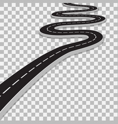winding road with transparent shadow template vector image