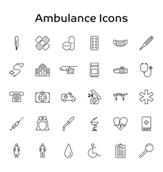 Ambulance Medical and Healthcare outline vector image