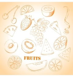 Background with fruit-08 vector image vector image