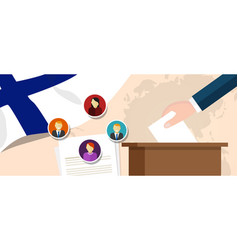finland democracy political process selecting vector image