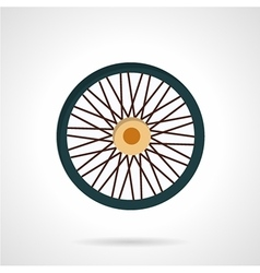 Flat color icon for bike wheel vector image vector image