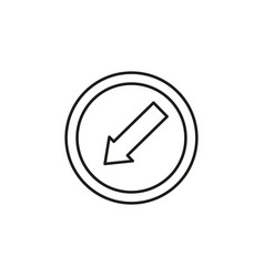 lane left road sign icon vector image vector image
