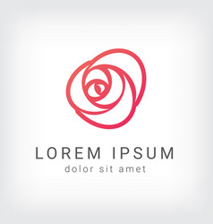 outline rose curve logo design template vector image vector image