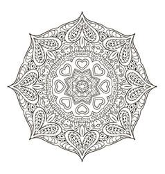 mandala pattern doodle drawing round coloring vector image