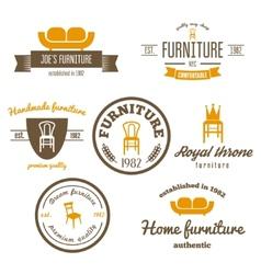 Set of vintage logo badgeemblem and logotype vector image