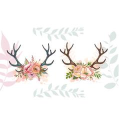 summer romace deer vector image vector image