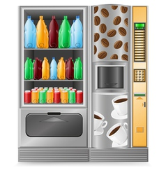 vending coffee and water is a machine vector image vector image